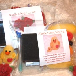 Needle Felting Mini Kit Bundle- Chick and Flower!
