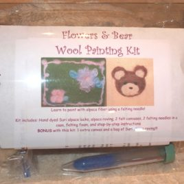 Wool Painting Kit- Flowers and Bear