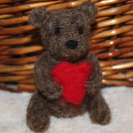 Handmade Bear with a Heart
