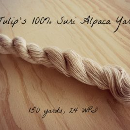 Tulip's All Natural 100% Suri Alpaca Yarn