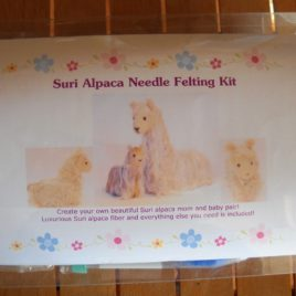 Suri Alpaca Needle Felting Kit