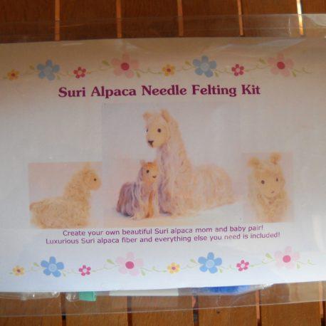 Suri Alpaca Needle Felting Kit Front