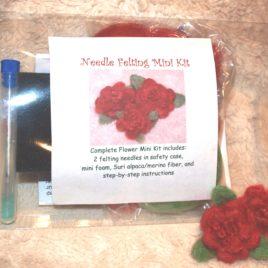 Needle Felting Mini Kit- Flower