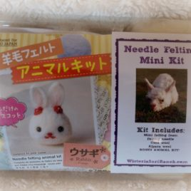 Mini Needle Felting Kit with BONUS Animal Kit! Your Choice- Rabbit, Bird, or Cat