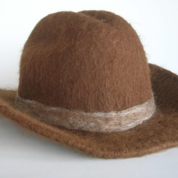 How to Felt a Cowboy Hat with Suri Alpaca Fiber