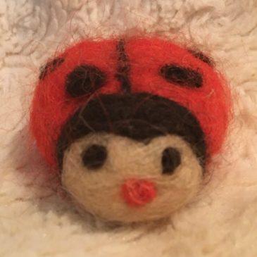 How to Needle Felt a Lady Bug