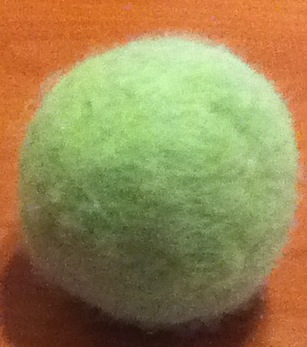 How to Felt a Wool Ball (mini version for kids)