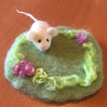 How to Needle Felt a Playpad for Your Felted Animals