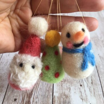 How to Make Felted Christmas Ornaments
