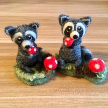 Needle Felted Raccoon Tutorial