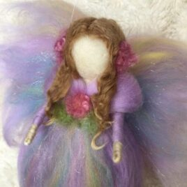 Purple Rainbow Angel Fairy Ornament- Handmade with Love