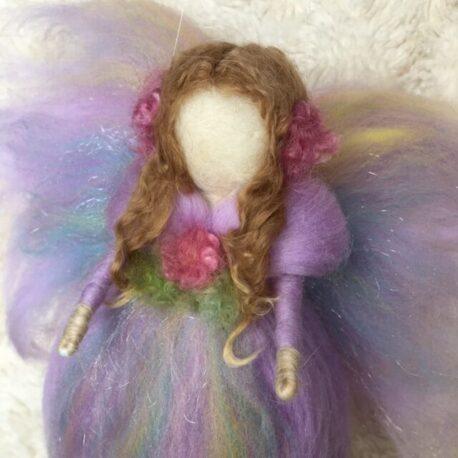 Felted Purple Rainbow Angel