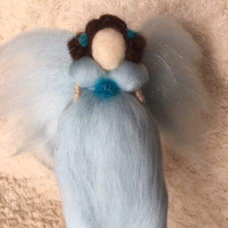 Felted Blue Angel Fairy