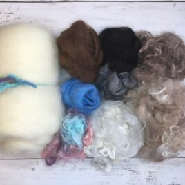 Core Wool and Suri Alpaca Fiber Needle Felting Refill Pack