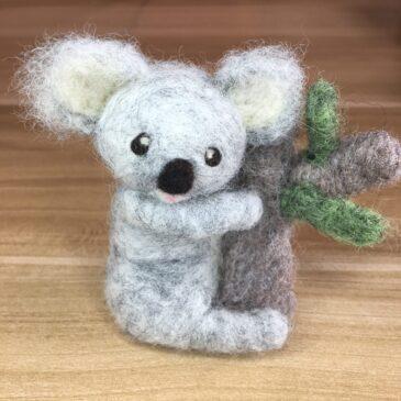 Needle Felted Koala Tutorial